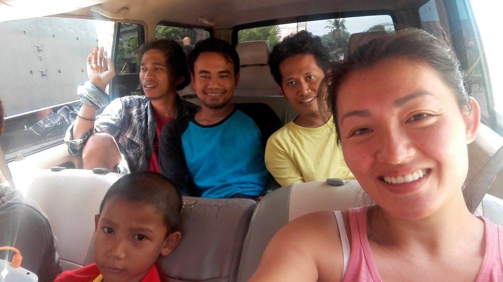 Im Minivan von Bira nach Makassar