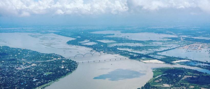 Flugzeugaussicht Mandalay Myanmar